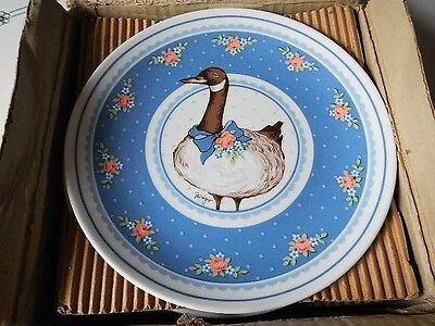 Vintage George Good Fabrizio Gray Goose Canadian Geese Plates Japan Mint in Box