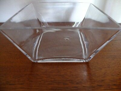Chunky square glass bowl