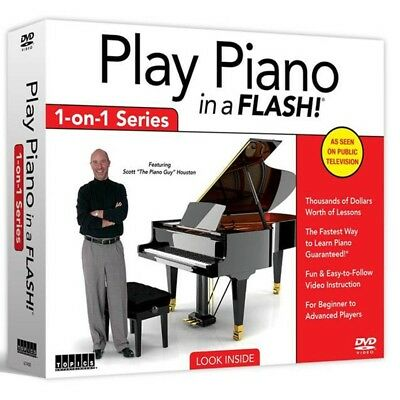 Play Piano in a Flash By Scott Houston 1 on 1 Series DVD Set Brand New