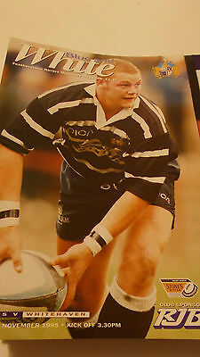 26.11.95 Featherstone Rovers v Whitehaven programme