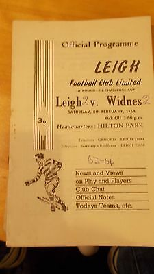 8.2.64 Leigh v Widnes programme