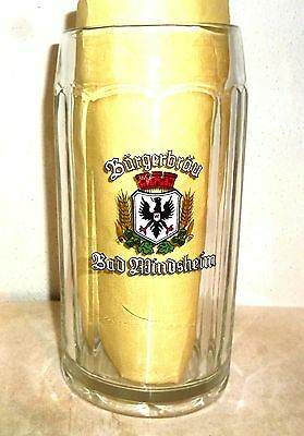 Burgerbrau Windsheim Masskrug German Beer Glass