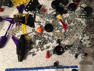 Meccano Collection Job Lot Of mixed Pieces for spare parts ,Instructions & tools