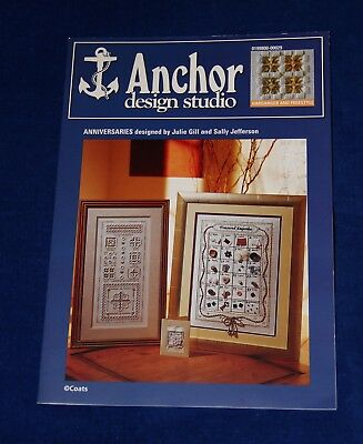 Anniversaries samplers charts, hardanger/embroidery with embellishments, Anchor