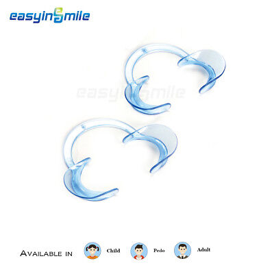 2Pcs EASYINSMILE Dental Cheek Retractor Autoclavable C-shape Mouth Lip Opener