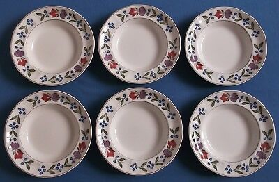 Adams Old Colonial Six Rimmed Soup Bowls Made In England
