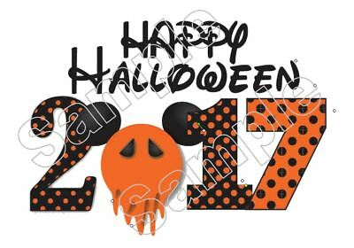 disney halloween 2018 vacation iron on t shirt pillowcase fabric transfer 9884