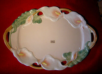 """FITZ and FLOYD CALLA LILLY LILY LARGE HANDLED SERVING PLATTER 18"""""""