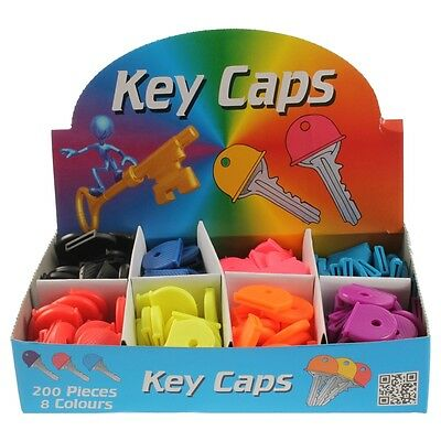 10 Assorted Multi Colour Rubber Yale Type Key Top Covers Tags Cap