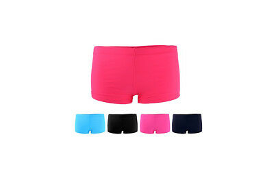 New Ladies Plain Swim Shorts Bikini Swimwear Boy Style Short Tankini Uk Sizes