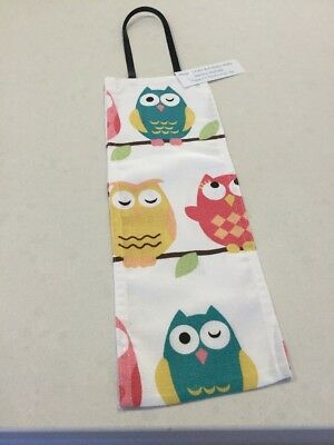 Green Owl, Hanging Three/Two Toilet Toll Holder, Handmade, New