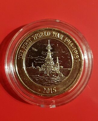 2015 First world war Royal navy £2 two pound HMS Belfast UNCIRCULATED COIN