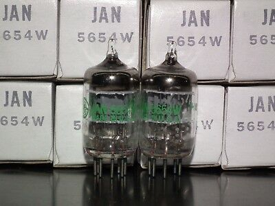 Matched Pair NOS NIB 5654W 6AK5W EF95 General Electric - Yaqin Little Dot