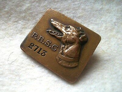 Perry Barr Greyhound Racing Members Badge P.b.s.c. Rare Vintage