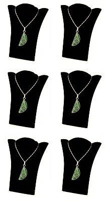 "6 Small Black Necklace Pendant Easel Back Jewelry Displays 4 1/2""W x 5 1/2""H"