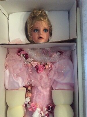 """NRFB 41"""" Rustie Porcelain Doll Called Echo Pretty In Pink 1997"""