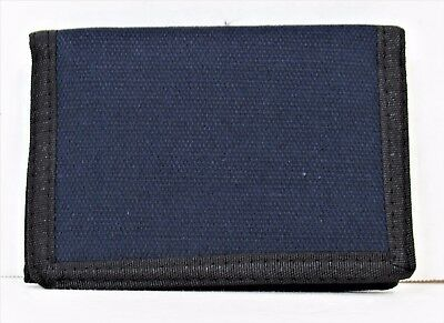 Amazing-Blue-Tri-Fold-Canvas-Wallet-With-Zipper And Very Easy Closure