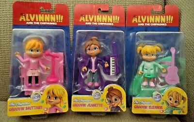 NEW! Alvin & The Chipmunks The Chipettes Eleanor Jeanette & Brittany connect