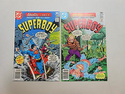 Adventure Comics lot of 2! #'s 454 and 455! (1978, DC) VF8.0! Bronze age beauty!