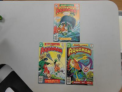 Adventure Comics lot of 3! #'s 449-45 (1977, DC)! VG4.5+, VF8.0 and FN/VF7.0!