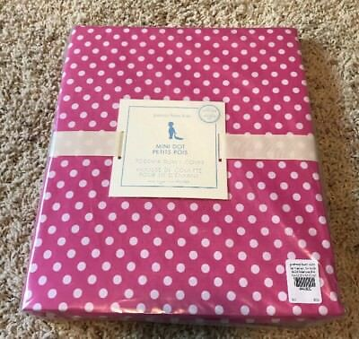 Pottery Barn Kids Mini Dot Toddler Duvet Cover Pink White NEW Tags