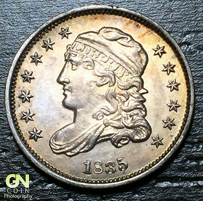1835 SMALL DATE Capped Bust Half Dime R1 V7 LM10 -- MAKE US AN OFFER!  #O5720