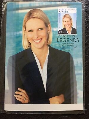 2012 Australia Sporting Legends Set Of Two Maxicards - Post Office Pack