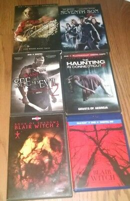 horror movie collection DVD blu ray 6 movies, lot