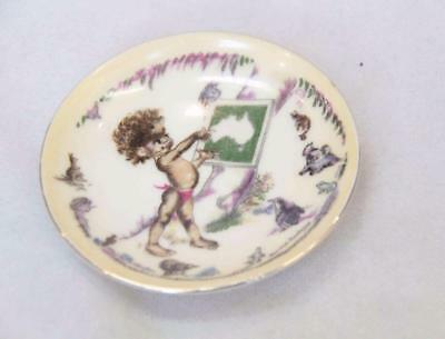 Vintage Rare Collectible Small Brownie Downing Plate Aboriginal Boy #13078