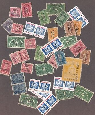 U.S.A. : Interesting Lot of Mint & Used Revenue stamps