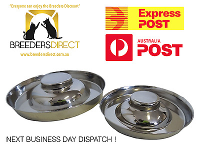 Puppy Feeder - Stainless Steel Bowl Large Bowl Litter Dog Whelping