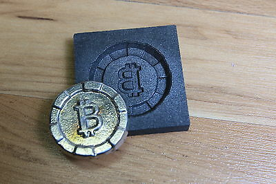 Bit Coin Graphite mold for Silver - Gold - Glass works Ingot casting copper