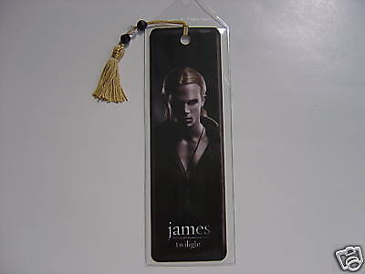 NEW Twilight Movie James Bookmark & Gold Beaded Tassel