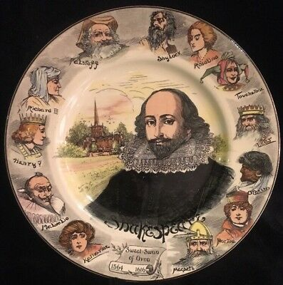 "Royal Doulton RN 549,784 Shakespeare 10.5"" plate"