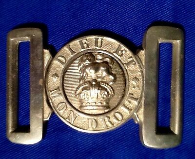 WW1 (Known & Identified) British Army Veterans Brass Belt Buckle, Kings Crown