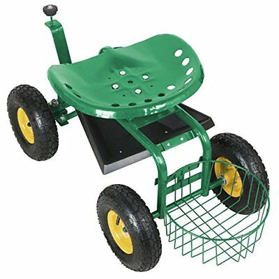 go2buyRolling Garden Cart Work Seat With Heavy Duty Tool Tray Gardening Plant...