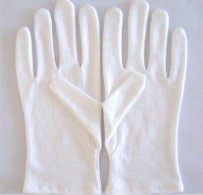 1 pair  L WHITE gloves   under boxing soft cotton - inspection gloves NEW