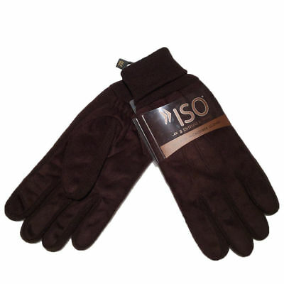 ISOTONER - A706M3 Men's Brushed Micorfiber Winter Gloves w/ Thinsulate ONE SIZE