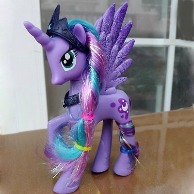 14cm Moon Princess Luna My Little Pony Doll Action Figure Toy Kids Gift Lavender