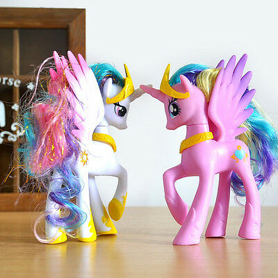 14CM My Little Pony Cake Toppers PVC Kids Girls Toys Gift Figurines Decoration