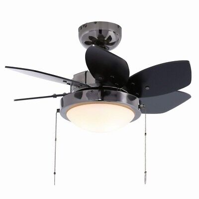 Indoor Ceiling Fan Black Reversible Light Small Downrod Westinghouse 24 in.