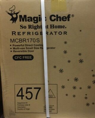 Magic Chef MCBR170S Mini Refrigerator 1.8 CU ft Stainless Steel New SEALED BOX