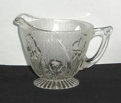 Jeannette IRIS CRYSTAL *FOOTED CREAMER*