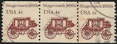 1898Ae 4c Stagecoach #3 used pnc PS3 UNTAGGED ERROR
