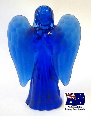 Glass Standing Angel with Frosted Wings
