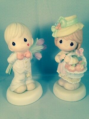 Precious Moments Adorable Sweetheart Couple~Perfect Gift!!