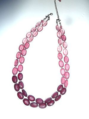 Vintage Rose Tone Beaded Necklace