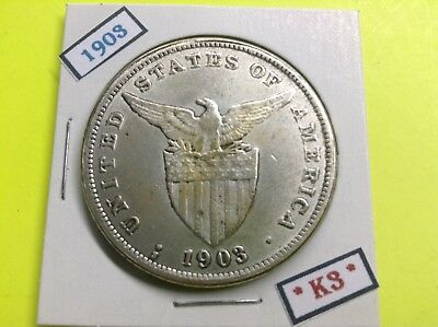 PHILIPPINES COIN 1903 ONE 1 PESO US ADMINISTRATION ERA jra