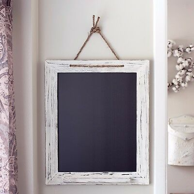 White Shabby Chic Chalk Marker Board 20x24, Kitchen Chalkboard, Handmade