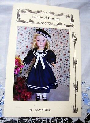 "26"" Sailor Dress PATTERN for Antique  Doll        Simon Halbig"